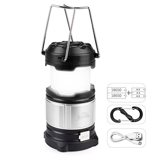 Price comparison product image LED Camping Lantern,Emergency Light for Vehicles,Home Power Outage,HiHill Rechargeable Backup Battery for Mobile Phone,MP3,IPad,IPod