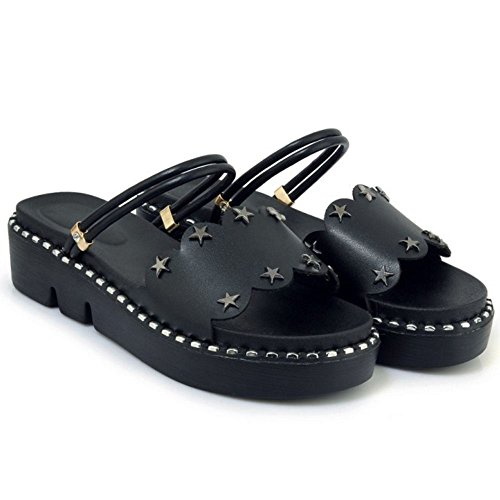 2 5 Zanpa Flatform Black Dolce Way Donna Sandli gIrnqrYZW