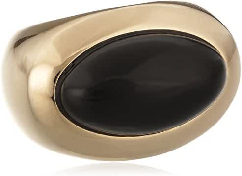 ESPRIT Women's Ring, Rhodium Plated Stainless Steel And Pure Smoky Quartz Stone, Brown Brown
