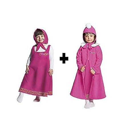 vendita calda economico per lo sconto elegante takestop® Costume + Cappotto con Cuffia in Pile Masha E Orso ...