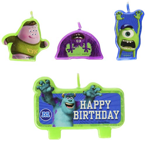 Amscan Cake Candle Set   Disney Monsters University Collection   Birthday   6 Sets