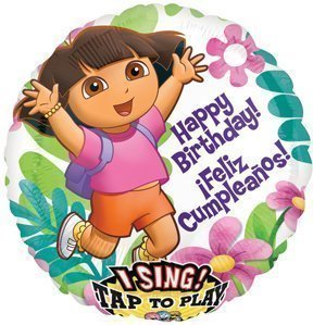 DORA The Explorer 28' Happy Birthday Party SINGING Sing A Tune Mylar Balloon