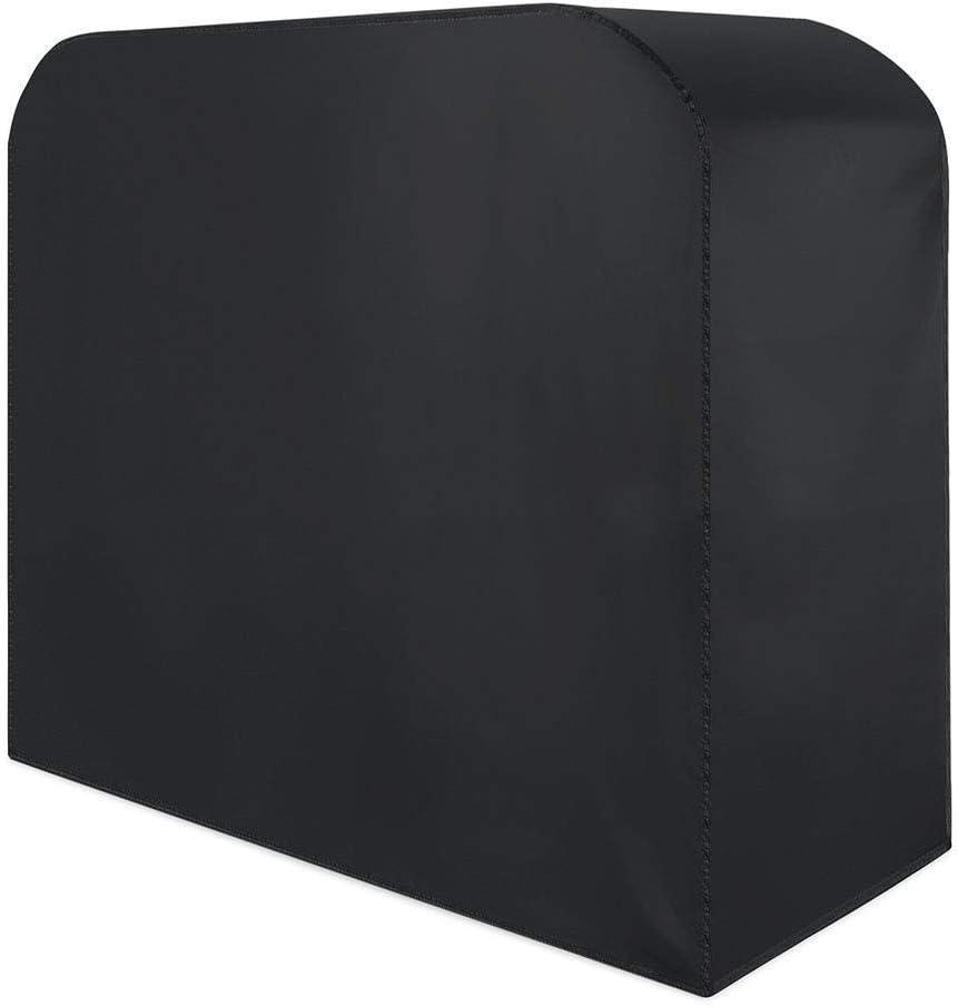 Soar-lonas Conjuntos de Muebles Fundas para Muebles De Jardín Rectangular Cubierta De La Parrilla De Barbacoa Impermeable Funda De Protección,Negro (Size : 145x61x117cm)