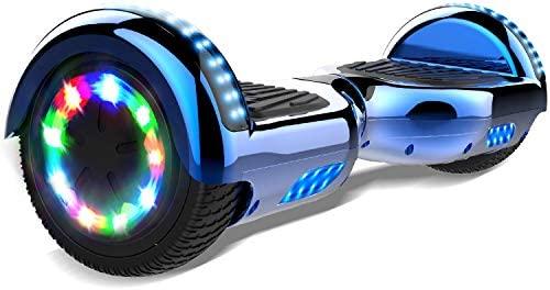Double Hunter Hoverboard 6,5 Pulgadas Balance Board, Auto Balance Patinete eléctrico,2272 UL Certified LED, Ruedas de LED Luces, Altavoz Bluetooth, ...