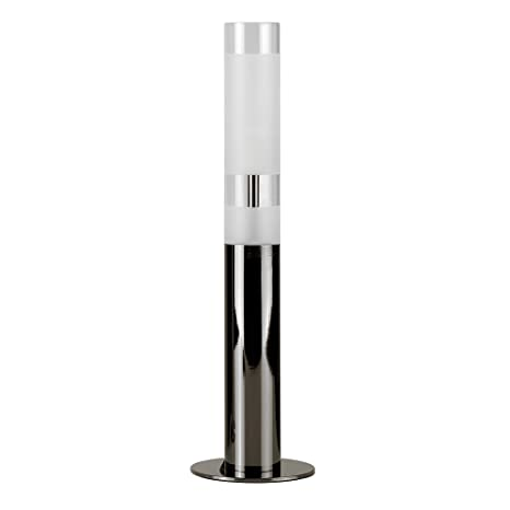 MiniSun - Lámpara de mesa táctil, cromada negra con efecto ...