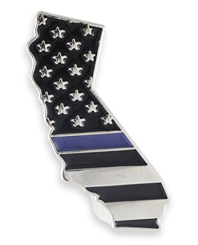 Forge California Blue Lives Matter State Shape Blue Line Lapel Pin (1 Pin)