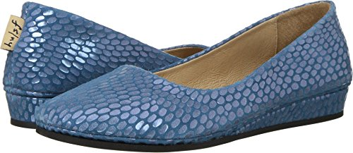 French Blue Julep on Print Slip Zeppa Shoes Women's Sole rqwHx0YBFr