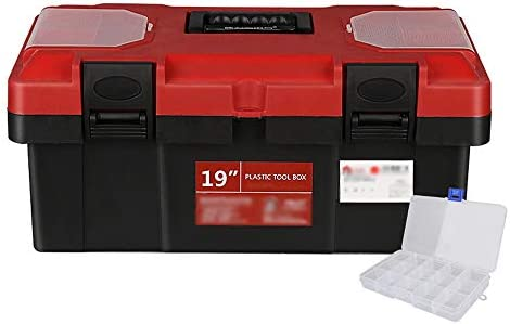 ChenCheng ツール収納ボックス強化プラスチックツールボックス家庭用ツール収納ボックス車のポータブルツールボックス ツールボックスストレージと組織 (Size : 445MMx240mmX195MM)