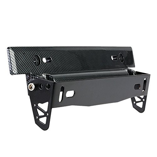 - Docooler License Plate Frame Holder Universal Carbon Fiber Car License Plate Frame Holder Racing Style Angle Adjustable Relocate Bracket