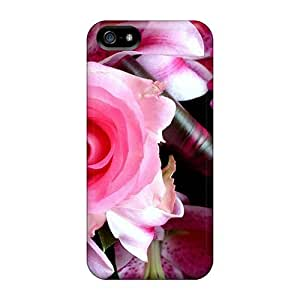 Cute Tpu Anglams Simple Beautiful Flowers Case Cover For Iphone 5/5s