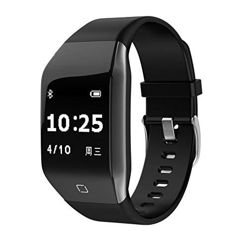 - LEERYAAY Heart Rate Activity Step Curved Surface Design Smart Bracet for Kids Women Men Black
