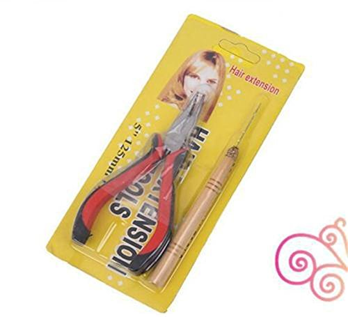 Feather Hair Extension Kit with 26 Synthetic Feathers, 100 Beads, Plier and Hook by Hair Style (Image #4)