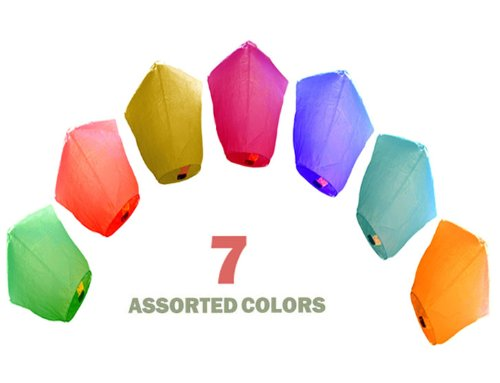 7-Assorted-Color-Diamond-Chinese-Flying-Sky-Floating-Lanterns-Just-Artifacts-Brand