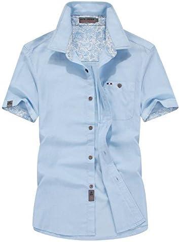 (habille)メンズ ペイズリー柄 半袖 無地 シャツ 爽やか カジュアル トリコロールカラー おまけ付(5カラー)
