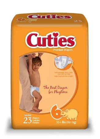 Cuties Baby Diapers, Size 6, 23 Count