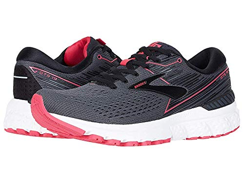 Brooks Women's Adrenaline GTS 19 Black/Ebony/Pink 8 B US