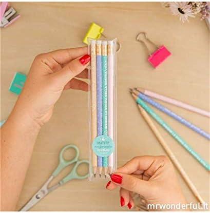 Mr. Wonderful Pack de 4 lápices, pack de 4 lápices con mensajes geniali: Amazon.es: Oficina y papelería