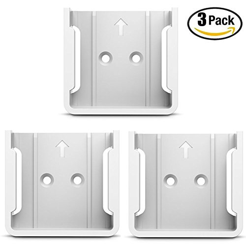 HOLACA Quick Wall Mount Bracket for Wyze Cam 1080p HD Camera and iSmart Alarm Spot Camera (3 PACK, White) by HOLACA