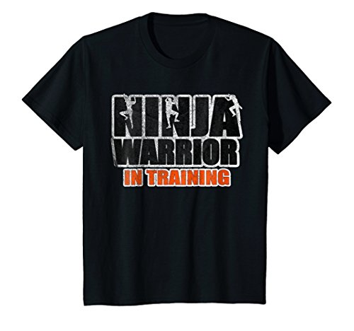 Kids Ninja Warrior in Training T-Shirt in orange