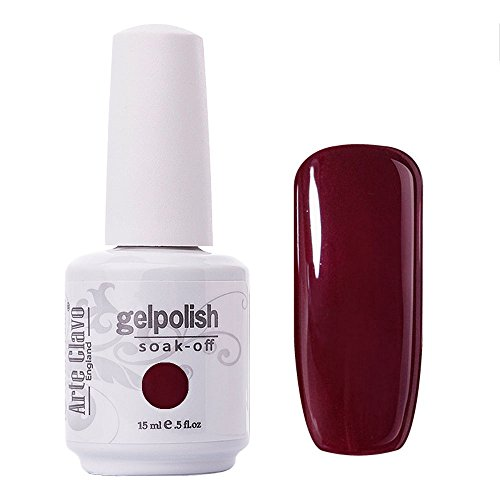 Arte Clavo Maroon Red Nail Gel Polish Harmless Resin Profess