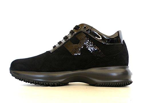 HOGAN scarpe donna interactive modello HXW00N0564025Q9999 nero paillettes