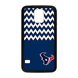 Blue and White Chevron Houston Texans logo Case Cover for Samsung Galaxy s5Case Cover Shell (Laser Technology)