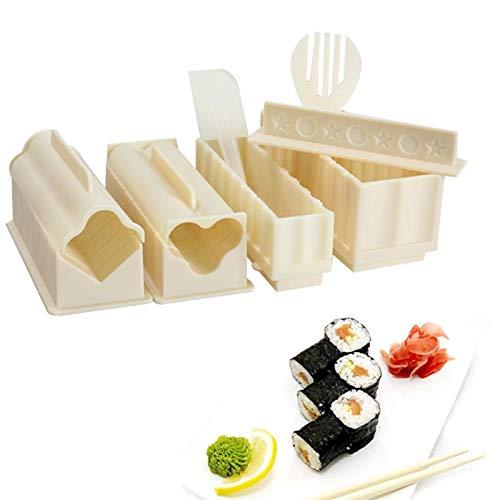 Golden Store129 Sushi Mold 11Pcs/Set DIY Maker Rice Kitchen Sushi Making Tool Set for Sushi Roll Kitchen Accessaries
