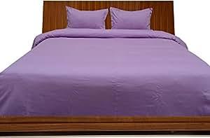 Brightlinen Lilac Superking (180 X 200 Cm) Duvet Set Fitted Sheet Solid(pocket Size: 34 Cm) 4pcs