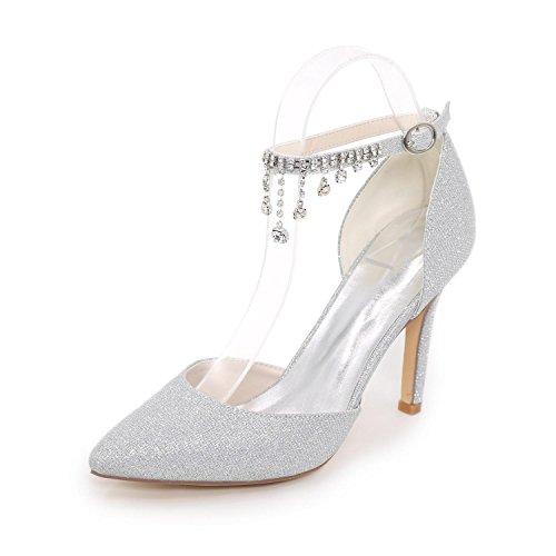L@YC Frauen-Fersen Sommer-Komfort Synthetische Hochzeitsfest & Abendkleid Casual Stiletto High Heel White