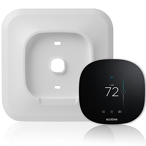 Wall 2 Bracket Lite - Wall Plate Bracket Cover for Ecobee3 lite Smart Wi-Fi Thermostat (White-Ecobee3 lite)