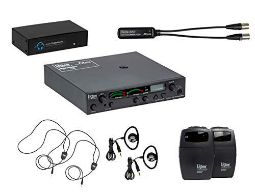 Listen Technologies LCS-120-01-D Wi-Fi/RF Base System, Dante Multi-Channel Digital Media Networking Capabilities, Smartphone App, Extended Reach