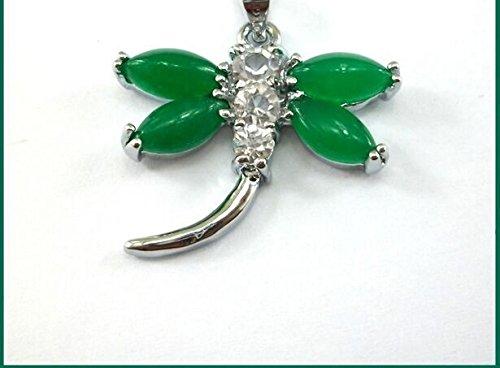 usongs Malay jade necklace pendant women girls money necklace pendant green emerald dragonfly pendant