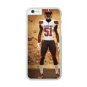 Case Cover For HTC One M8 White Cell Phone Case Cleveland Browns NFL Generic Phone Clear NLYSJHA1802