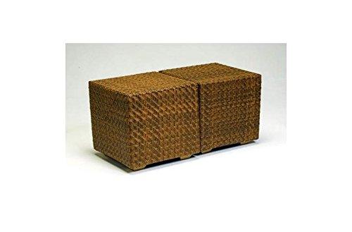 d1838fa647c6 Amazon.com   Woodard Wicker Cube Side Table - 21 Cubic Inches ...