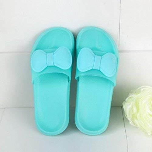 1 Lady Slippers Home Indoor Slippers Ladies Slip Bath Slippers Pink bluee Green Slipper Soild color Personality Bow Quality