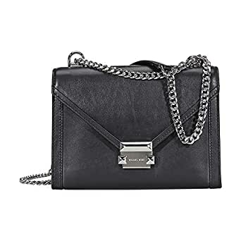 402820410db4 Amazon.com  Michael Kors Whitney Large Shoulder Bag- Black  Clothing