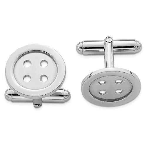 - 925 Sterling Silver Button Cuff Links Mens Cufflinks Man Link Fine Jewelry Gift For Dad Mens For Him