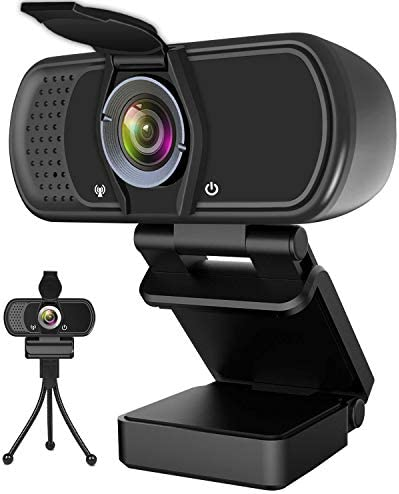1080P Full HD USB PC Webcam with Detachable Privacy Cover Streaming Computer Web Camera for Video Calling Recording Conferencing Veroyi Webcam with Microphone