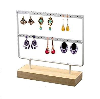 Pr/ésentoir /à Bijoux Support Collier Femmes Boucles dOreilles Etag/ère /à Bijoux Porte-Bijoux Organisateur Rangement en M/étal Chytaii