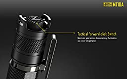 Nitecore MT10A Max 920 lumen LED tactical Flashlight with holster, lanyard, clip and EdisonBright flexible USB reading light
