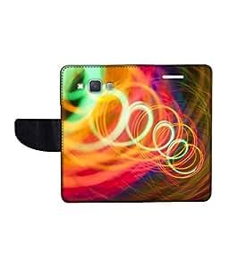 KolorEdge Printed Flip Cover For Samsung Galaxy A3 Multicolor - (45KeMLogo11946SamA3)