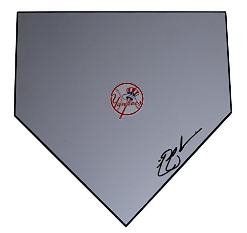 New York Yankees Nick Swisher Autographed Hand Signed NY Yankees Baseball Home Plate Base with Proof Photo of Signing and COA
