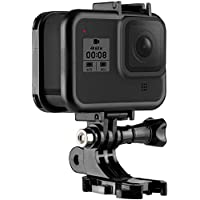 TELESIN Lightweight Plastic Protective Frame Case Hollow Housing Cage for GoPro Hero 8 Black, with Quick Release…
