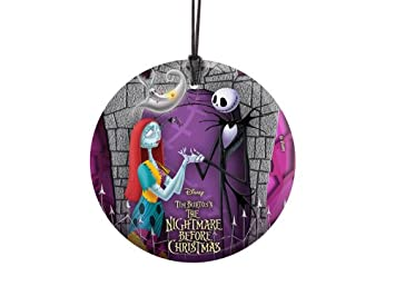 Nightmare Before Christmas Hanging Glass Ornament Jack And Sally With Zero Glass Ornament Home