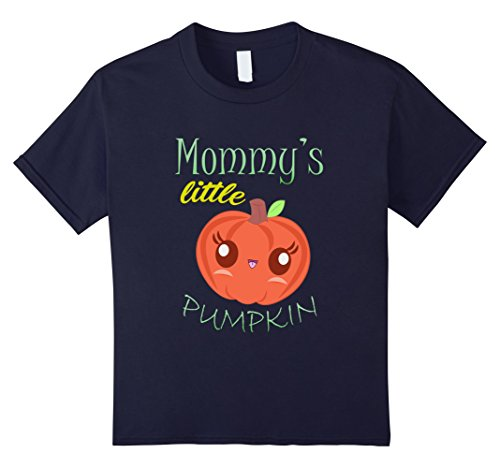 [Kids Womens Mommy's Little Pumpkin T-Shirt Halloween Maternity Co 12 Navy] (Classy Halloween Costumes 2017)