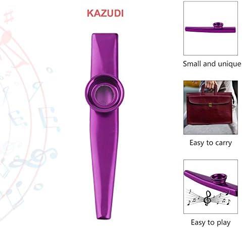 Metallo Kazoo 4 Colori Flauto diaframma Armonica Regalo per i Bambini Amante di Natale
