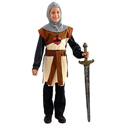 AEC Cu230163/116 - Costume Chevalier Tunique et Cagoule Taille 116 Cm