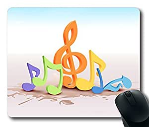Colorful Musical Notes 2 Gaming Mouse Pad Personalized Hot Oblong Shaped Mouse Mat Design Natural Eco Rubber Durable Computer Desk Stationery Accessories Mouse Pads For Gift - Support Wired Wireless or Bluetooth Mouse by icecream design