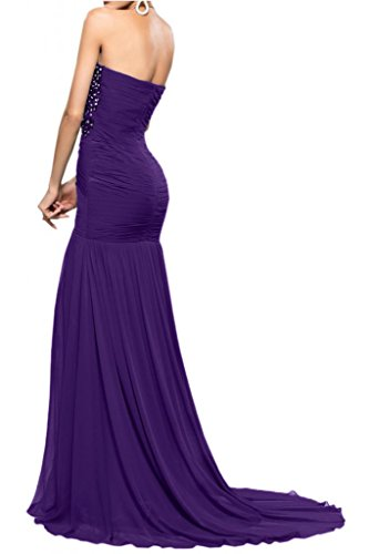 Toscana sposa Mermaid kraftool Chiffon tulle con applicazioni punta, stanotte vestimento Party ball vestimento viola 34