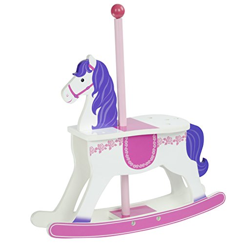 Olivia's Little World - Princess Carousel Rocking Horse | Wooden 18 inch Doll ()
